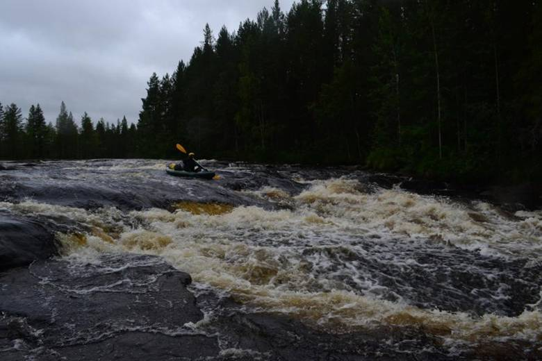 Отчет о водном туристском походе  первой категории сложности  по республике Карелия(р. Поньгома)