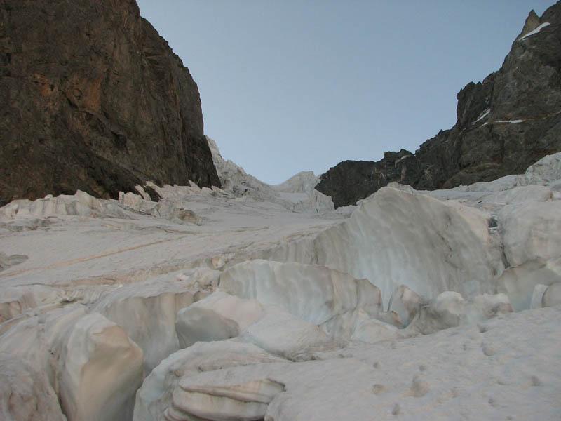Средняя часть Ушбинского ледопада