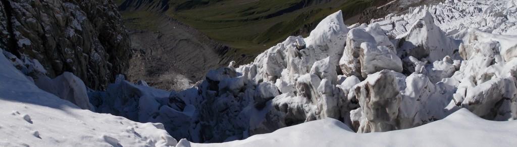 Спуск по ледопаду