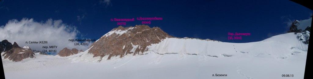 Панорама на перевал